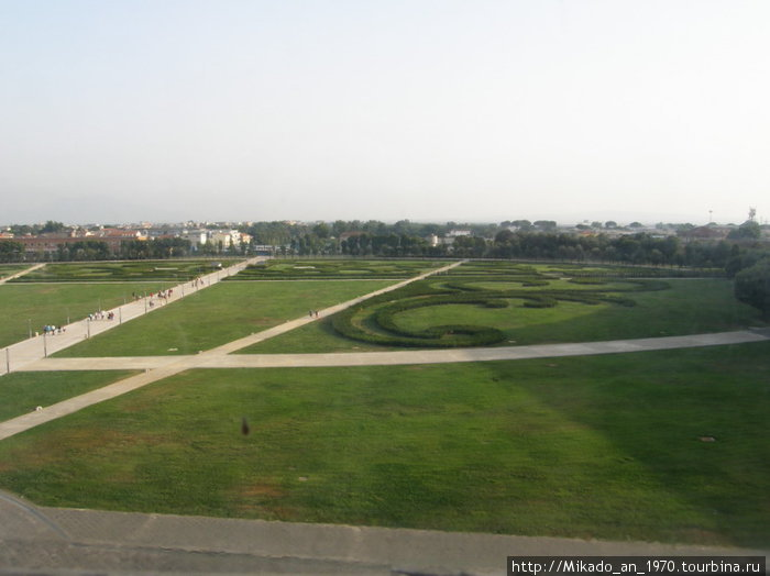 Парк дворца — вид из дворца