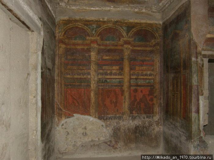 Настенная фреска на вилле Мистерий