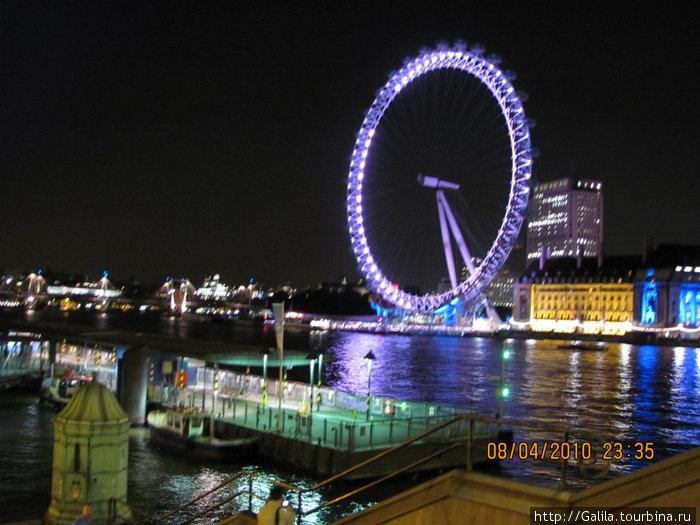 Ночной Лондон.