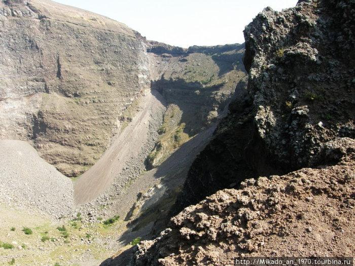 Часть кратера Везувия