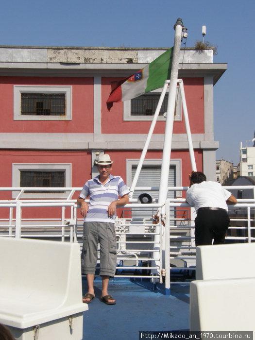 Я, на фоне итальянского флага