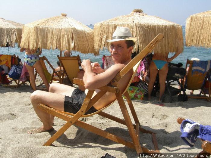 В шляпе и на солнце