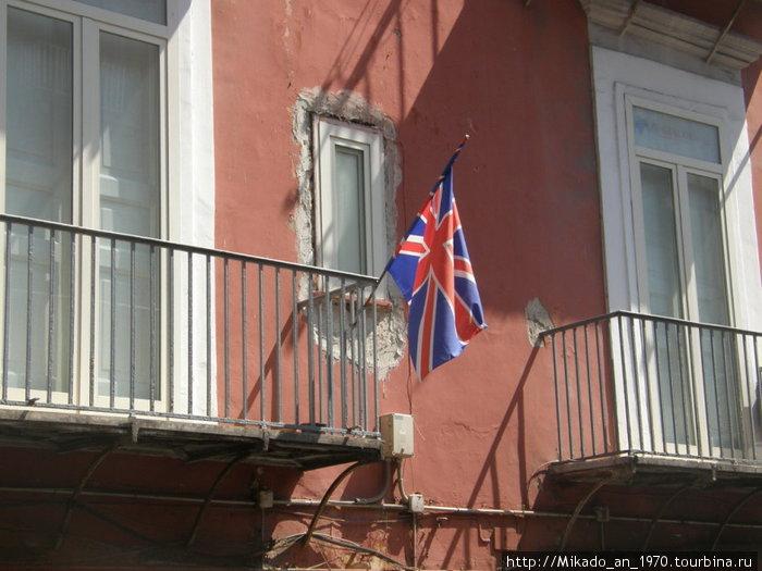 Британский флаг в Италии