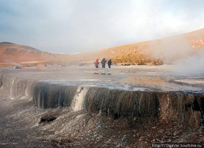 Террасы в долине гейзеров Татио
