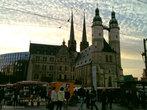 Marktkirche St. Marien на Marktplatz, построена в 1530-1554