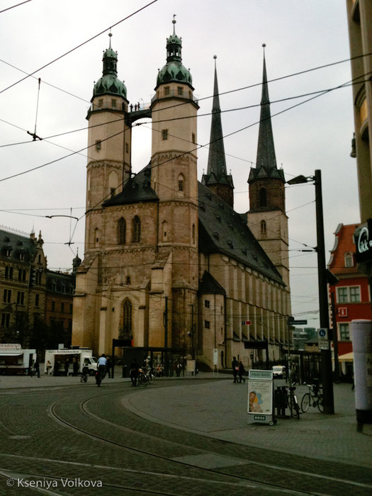 Marktkirche St. Marien на Marktplatz Галле, Германия