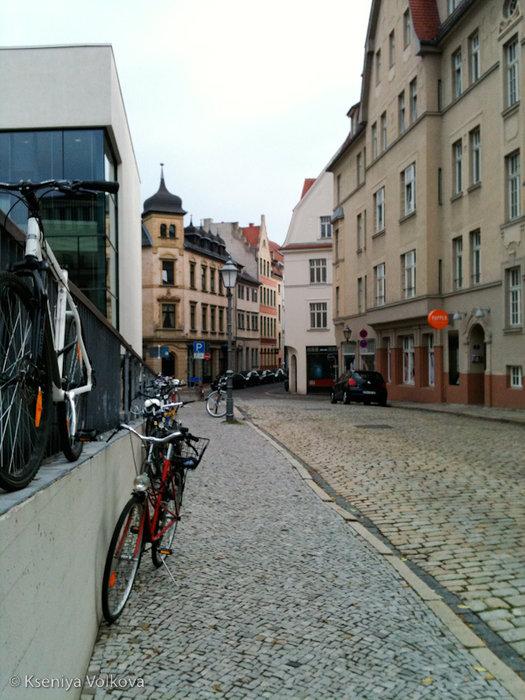 Халле - центр старого города Галле, Германия