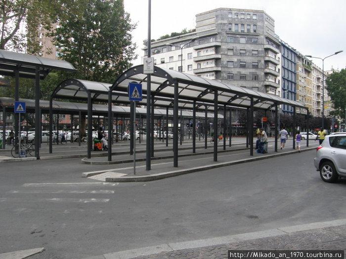 Остановка перед ж-д вокзалом