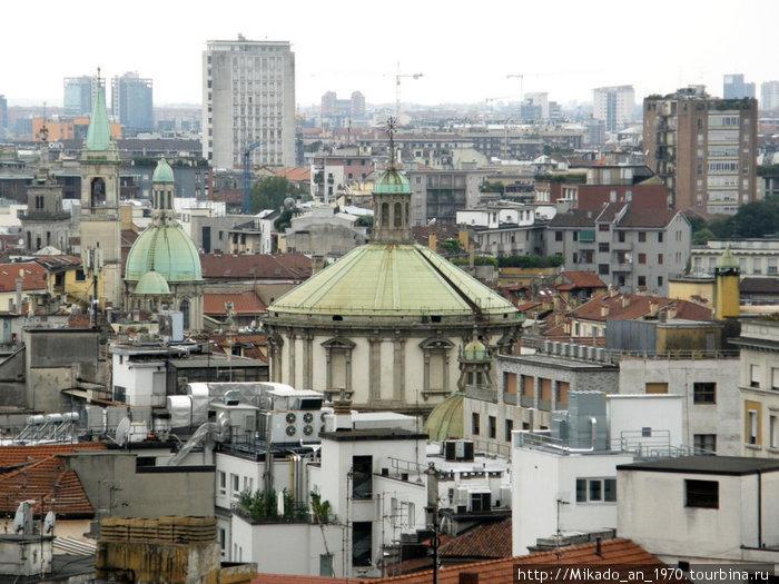 Вид на Милан сверху