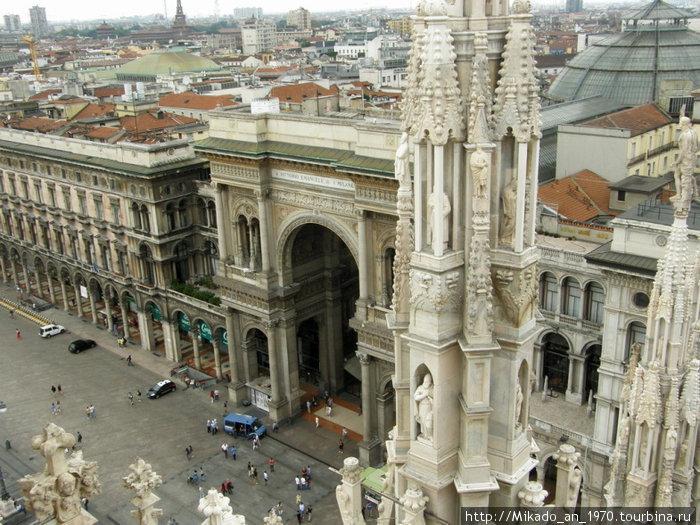 Галерея Умберто, вид с крыши Дуомо