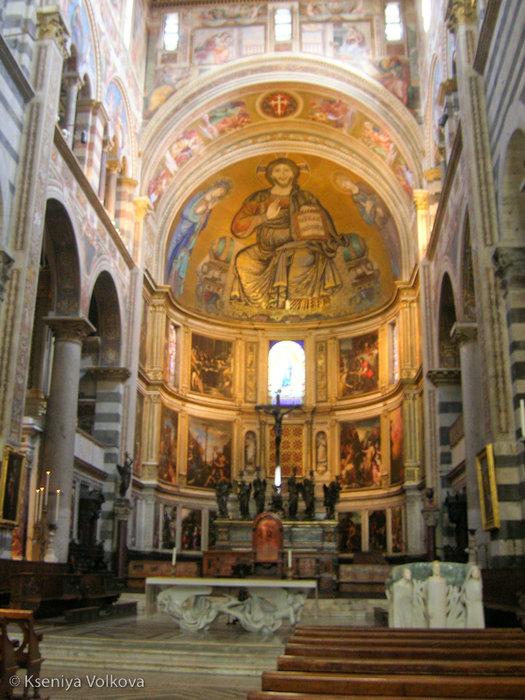 Мозаика, изображающая Христа с предстоящими Богородицей и Иоанном Богословом