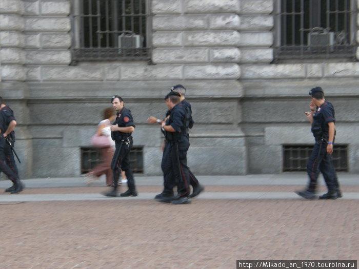 Полицейский патруль в Милане