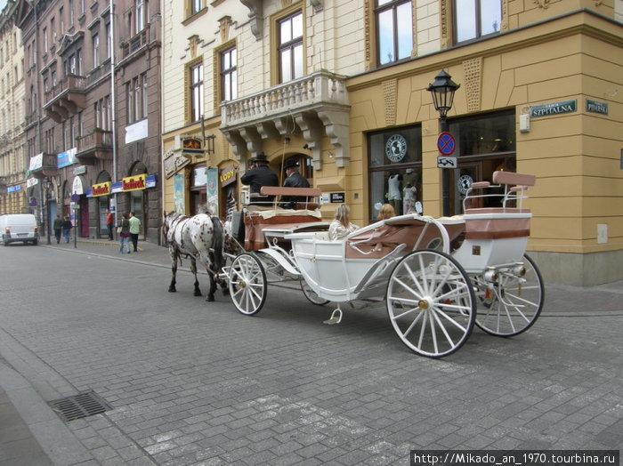 Конный экипаж в Кракове