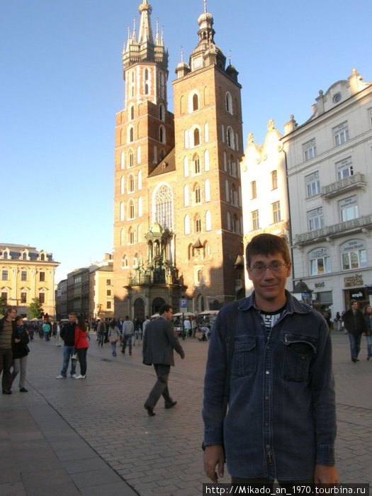 Я на центральной площади Кракова