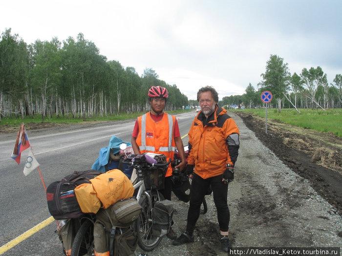 Встреча на дороге. Омская