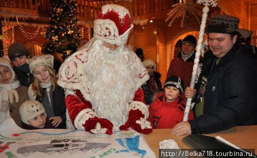 Автограф от Деда Мороза