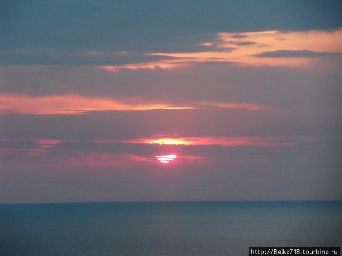Нида. Закат. Вид с маяка