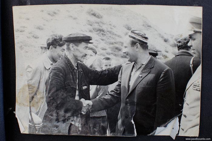 Ю.А. Гагарин с визитом в