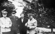 Военный санаторий Тамга.  Гагарин в санатории. Фото из музея.