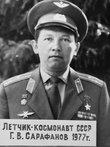 Военный санаторий Тамга. Фото космонавта Сарафанова в музее санатория.
