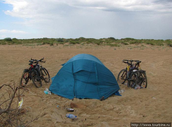 Палатка под дождем
