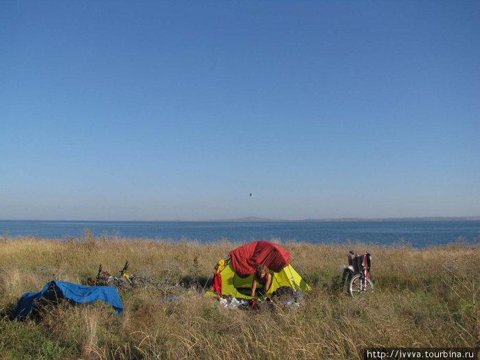 Утро на берегу Таманского залива