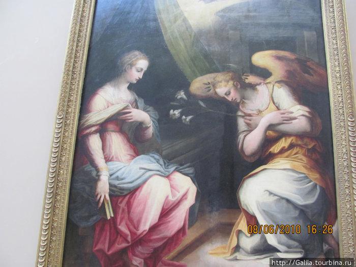 Лувр. Встреча Марии с Гавриилом.