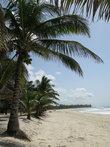белый песок  и океан