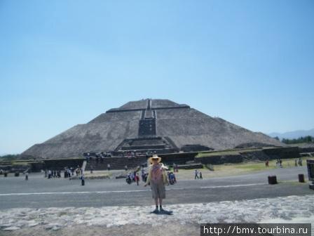 Пирамида солнца в Теотиукане.