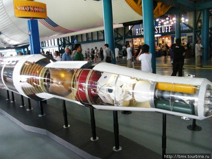 Головная часть ракеты Сатурн. Макет.