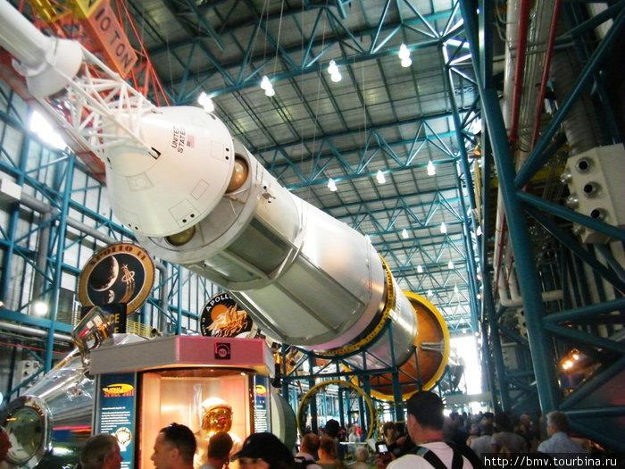 Головная часть ракеты Сатурн.