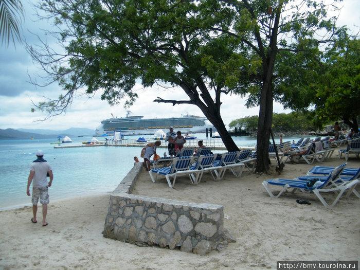 Пляж на острове Гаити