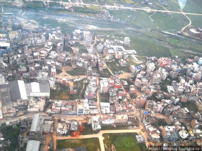 Катманду с высоты полета