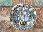 Тарелка со сценой из произведения Сабира