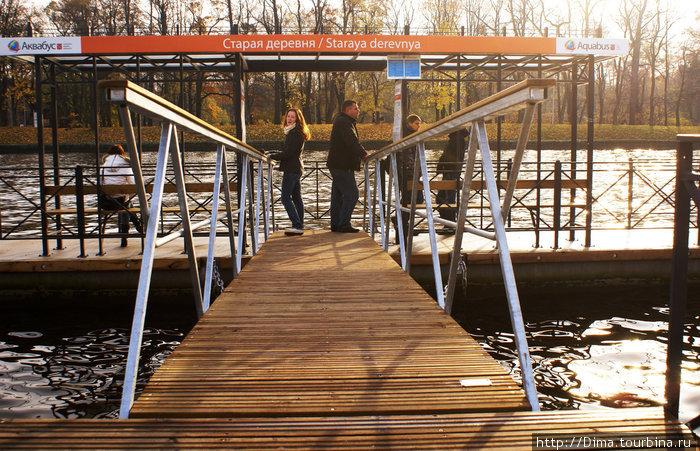 К причалу ведут мостики.