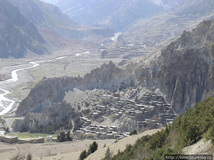 Гималайская деревушка.