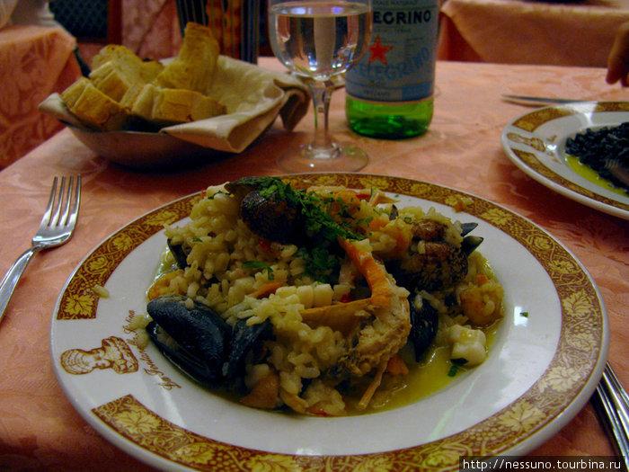Ризотто с грибами и морепродуктами