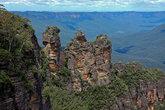 Визитная карточка Голубых гор, скалистые утёсы