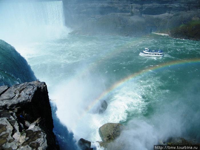 Под водопад на кораблике