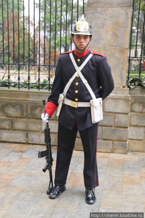 Охрана у забора Президентского дворца