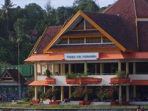 Порт города Соронг