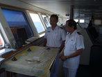 В капитанской рубке. Плыть от Сурабаййи до Соронга = 5 дней