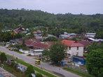Вид города Соронг с минарета главной мечети