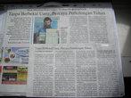 Газета обо мне, вызывавшая большой интерес повсюду (на индонезийском языке)