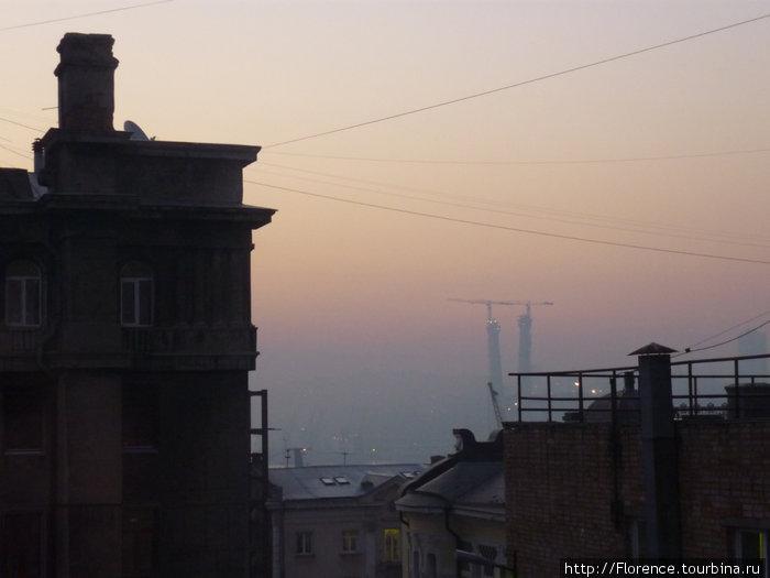 Вид из окна буфета)