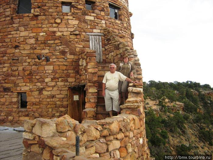 Сторожевая башня у Гранд Каньона.