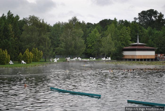 В этом озере рекомендуется не плавать, чтобы не увеличивать нагрузку на сердце, а просто висеть вертикально в круге или на перилах, покрываясь пузырьками газа.