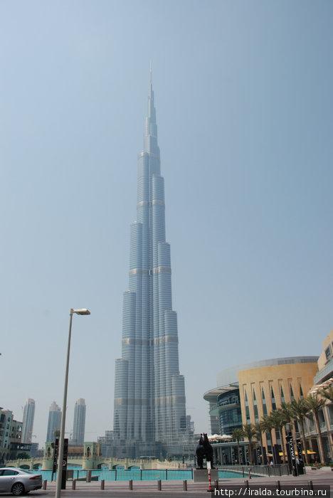 Самое высокое здание в мире – Бурдж Халифа.