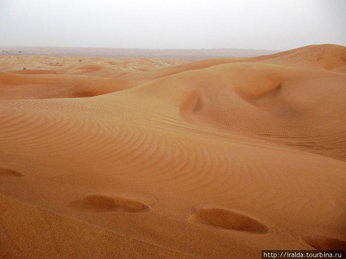 Я любовалась песчаными дюнами в захватывающей игре света и тени от заходящего солнца. Цвет песка менялся от светло-желтого, оранжевого до красного.