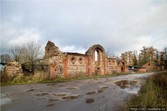 Руины хозпостроек усадьбы Врангеля в п.Торосово